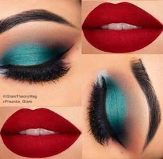 Olhos - sombra verde - The World of Makeup Gorgeous Makeup, Pretty Makeup, Love Makeup, Makeup Inspo, Makeup Inspiration, Makeup Ideas, Rihanna Makeup, Glam Makeup, Smokey Eye Makeup