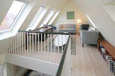 Liberal use of Velux windows. Liberal use of Velux windows. Attic Loft, Attic Stairs, Loft Room, Crittall, Balkon Design, Attic Conversion, Attic Remodel, Small Buildings, Big Windows
