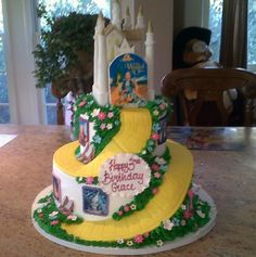 Custom Birthday Cake. Wizard of Oz cake. Yellow Brick road cake.    Palermo's Bakery creates custom cakes, wedding cakes, birthday cakes, graduation cakes, cake pops, cupcakes, cookies, custom dessert tables and serves the New Jersey/New York Area