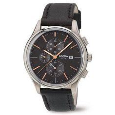 3756-02 Mens Boccia Titanium Chronograph Watch