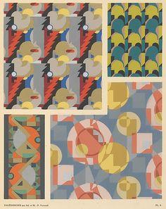 Maurice-Pillard Verneuil, Kaleidoscope - Abstract Ornaments, a portfolio of Art Déco pochoir prints, 1926. Published by Albert Lévy, Paris. Via metmuseum
