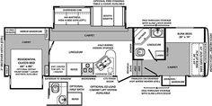 5th wheel 2 bathroom Floor Plans | WILDCAT 323QB 2012 BUNK HOUSE 5TH WHEEL