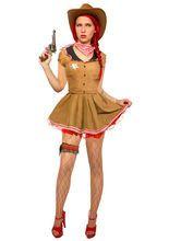 Cowgirl Damenkostüm Western braun-rot aus unserer Kategorie Sexy Damenkostüme. Mit diesem heißen Cowgirl Faschingskostüm sind Sie nicht nur der Star unter den Cowboys im Wilden Westen, sie werden auch auf der nächsten Karnevalsparty die Blicke auf sich ziehen - für selbstbewusste Damen!