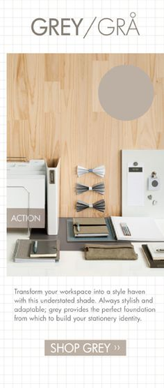 Basics Stationery Collection   kikki.K Stationery & Gifts /// Update your workspace with our Basics Collection in grey.