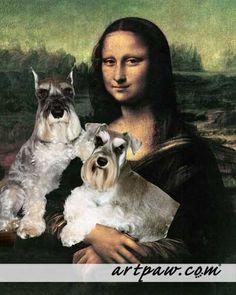 Art Dog Blog Schnauzers and Mona Lisa