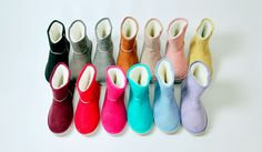 in a rainbow of uggs