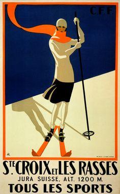 Art Deco Posters | ST. CROIXE ET LES RASSES - Vintage Art Deco Posters, Art, and Prints