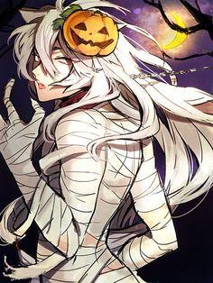 kogitsunemaru touken ranbu anime halloween mummy fanart manga guys boy boys cute mobile pixiv animes zerochan conversion discover games