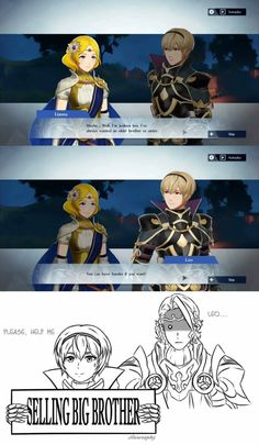 Video game memes 531917405981726288 - leo: t a k e h i m Source by AquaMarth Fire Emblem Fates, Fire Emblem Awakening, Fire Emblem Warriors, Fire Emblem Radiant Dawn, Minions, Blue Lion, Chef D Oeuvre, Funny Games, Funny Comics