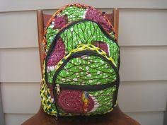 African Print Backpack. $30.00, via Etsy.