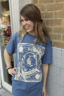 Women's T-shirt blue - Short sleeve - spring style fashion @ Black Bear Trading Asheville N.C.