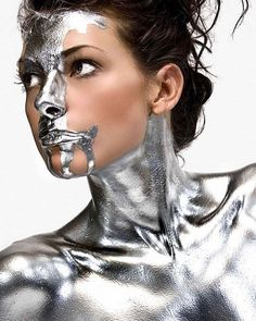 """39 Likes, 1 Comments - Beauty of Action (@beautyofaction) on Instagram: """"Hump day calls for silver body paint #beautyofactionloves . Pic via #pinterest . . . .…"""""""