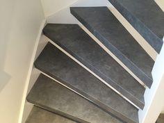 Open trap PVC traprenovatie betonlook