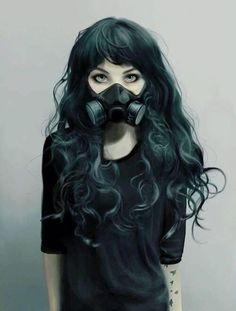 I simply love this pic. Dark girl with mask