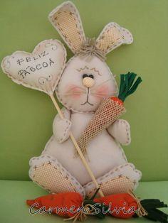 Rabbit Crafts, Bunny Crafts, Felt Crafts, Easter Crafts, Spring Projects, Spring Crafts, Holiday Crafts, Easy Christmas Ornaments, Felt Ornaments