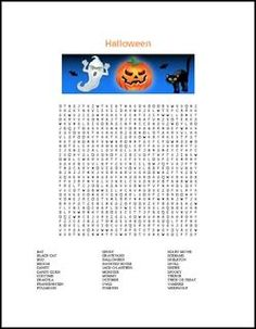 "FREE LANGUAGE ARTS LESSON - ""Halloween Word Search with Solution"" - Go to The Best of Teacher Entrepreneurs for this and hundreds of free lessons. 4th - 12th Grade #FreeLesson #LanguageArts #Halloween http://www.thebestofteacherentrepreneurs.com/2015/09/free-language-arts-lesson-halloween_29.html"