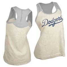Los Angeles Dodgers Touch by Alyssa Milano Sparkle Tank Top (White)