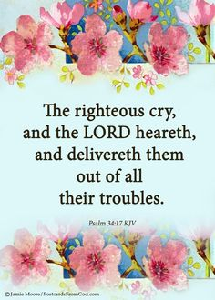 Lord, thank You for delivering us from our troubles when we cry out to You!
