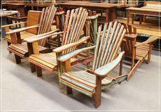 Outlet de Móveis Rústicos e Produtos de Madeira de Demolição | Outlet de Móveis Rústicos cadeira pavão