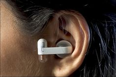 IDEO Microphone/Hearing Aid  IDEO came up with the idea of linking a microphone to a conductive strip running around the edge of a table in a bar. Customers then buy inexpensive ear pieces from the bar (pictured) so that they can converse in comfort. That should definitely take care losing your voice after an evening of screaming across the table.