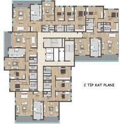 Best Modern Home Exterior Designs For You - Cozy Decoration Duplex House Plans, Apartment Floor Plans, Modern House Plans, Unit Plan, Architecture Plan, Building Plans, How To Plan, Palazzo, Ranch