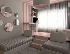 bem original e prática essa idea, a cama recolhida se torna um sofazinho durante o dia