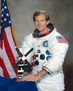 "William R. ""Bill""  Pogue, former astronaut & retired Air Force pilot from Sand Springs, OK, was pilot for the 3rd and final Skylab space station mission, 1973-74.  He orbited the earth 1,214 times, traveling 35.5 million miles.  He died in 2014 at age 84."