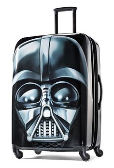 This Star Wars Darth Vader hardside spinner upright is a full-fledged member of the travel Empire. #ForceOfFamily