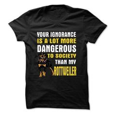 DANGEROUS TO SOCIETY THAN MY ROTTWEILER - #gift for dad #house warming gift. ORDER HERE => https://www.sunfrog.com/Pets/DANGEROUS-TO-SOCIETY-THAN-MY-ROTTWEILER.html?68278
