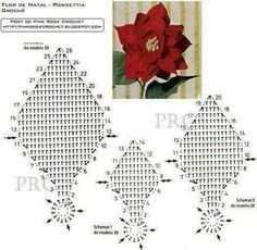 Best 12 Easy and cute free crochet flowers pattern image ideas for new season 2019 page 2 of 36 – Artofit Best 12 Easy and cute free crochet flowers pattern image ideas for new season 2019 page 2 of 36 – Artofit Crochet Leaf Patterns, Crochet Leaves, Christmas Crochet Patterns, Thread Crochet, Crochet Motif, Crochet Designs, Crochet Flowers, Crochet Christmas, Crochet Quilt
