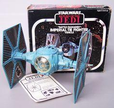 Vintage Star Wars Battle Damage Tie Fighter by VintageSeller76,
