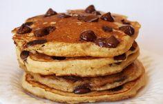 Chocolate Chip Pancakes #chocolate #pancakes #Chocolate-chip