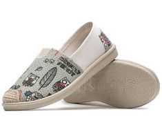 Espadrilles Casual Shoes, Espadrilles, Owl, Slip On, Grey, Sneakers, Collection, Women, Fashion