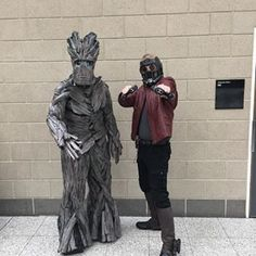 Groot and Star-Lord from Guardians of the Galaxy