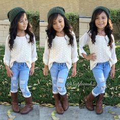 Cute little girls outfit mahi fashion kids fashion, little g Fashion Kids, Little Girl Fashion, Toddler Fashion, Toddler Outfits, Fall Fashion, Outfits Niños, Fall Outfits, Fashion Outfits, Kids Mode