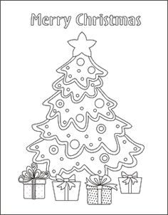 Simple Christmas Tree Coloring Pages  Coloring Pages  Pinterest