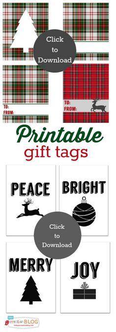 printable holiday gift tags and stickers - Free Printable Christmas Tags Templates