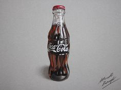 Coca-Cola contour bottle (drawing) by marcellobarenghi.deviantart.com on @deviantART