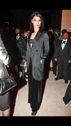 The incredible Crystal Renn at the Armani One Night Only event   www.style.com