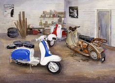 """007CG021 - Our Past in the Rear View Mirror - 16"""" x 12"""" Print Only £12.99 9.5"""" x 6.5"""" Mounted to 14"""" x 11"""" - £12.99"""