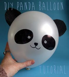 The DIY Fox: DIY Panda Balloon Tutorial