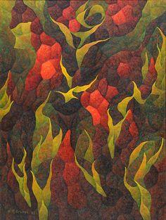 Hernando Ocampo - Filipino Artist - This painting represents a atomic bomb Filipino Art, Chalk Pastels, Artists Like, Three Dimensional, Art Photography, Artsy, Abstract, Drawings, Lavender