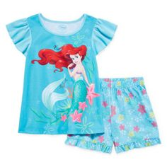 970e472d076d8 Disney Collection Ariel Pajama Set - Girls 2-10 found at @JCPenney Flare,