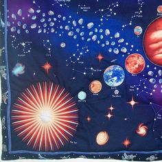 Solar System Space Quilted Wall Hanging