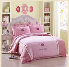 Online Shop Free Shipping 100% Cotton Pig Bear Beddig Set Twin Full Queen 3PCS 4PCS Pure Cotton Reactive Printing Bedspread On The Bed Aliexpress Mobile