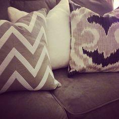 mixing pillow patterns #pillows #decorative pillows