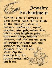 Jewelry Enchantment, Book of Shadows Spell Page, Witchcraft, Wiccan, Pagan