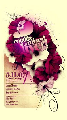 mix life designer steve goodin aka demen1 club flyer 3d
