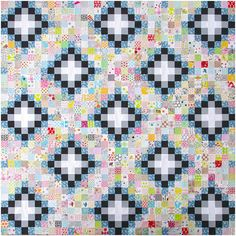 Memoire A Paris Irish Chain Quilt - work in progress | Red Pepper Quilts 2016