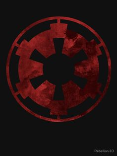 The symbol of the galactic empire from the star wars universe. Show your allies and enemies that you had chosen the dark side with this symbol. An awesome design for the geek till the stormtroopers.
